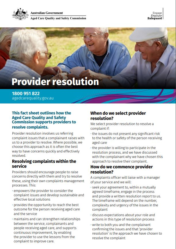 Thumbnail image of Provider resolution fact sheet