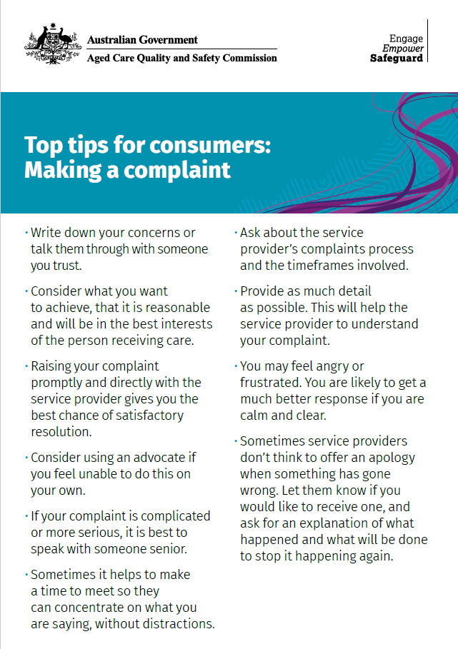 Top tips for consumers front page