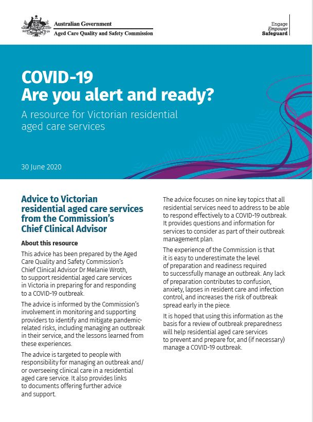 picture of cover of 'Are you alert and ready' document