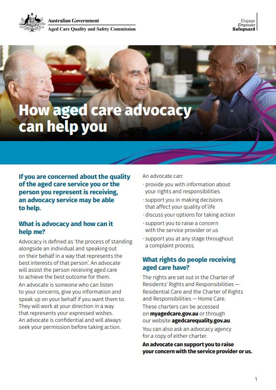 Cover image_How Aged Care Advocacy Can Help You Fact Sheet