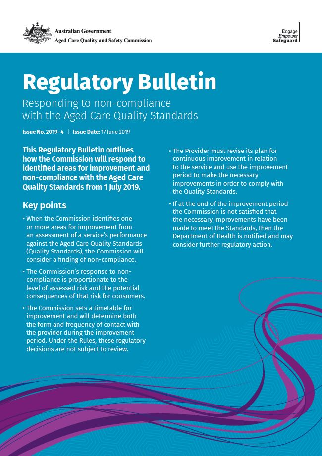Cover image Regulatory Bulletin Issue 2019-4