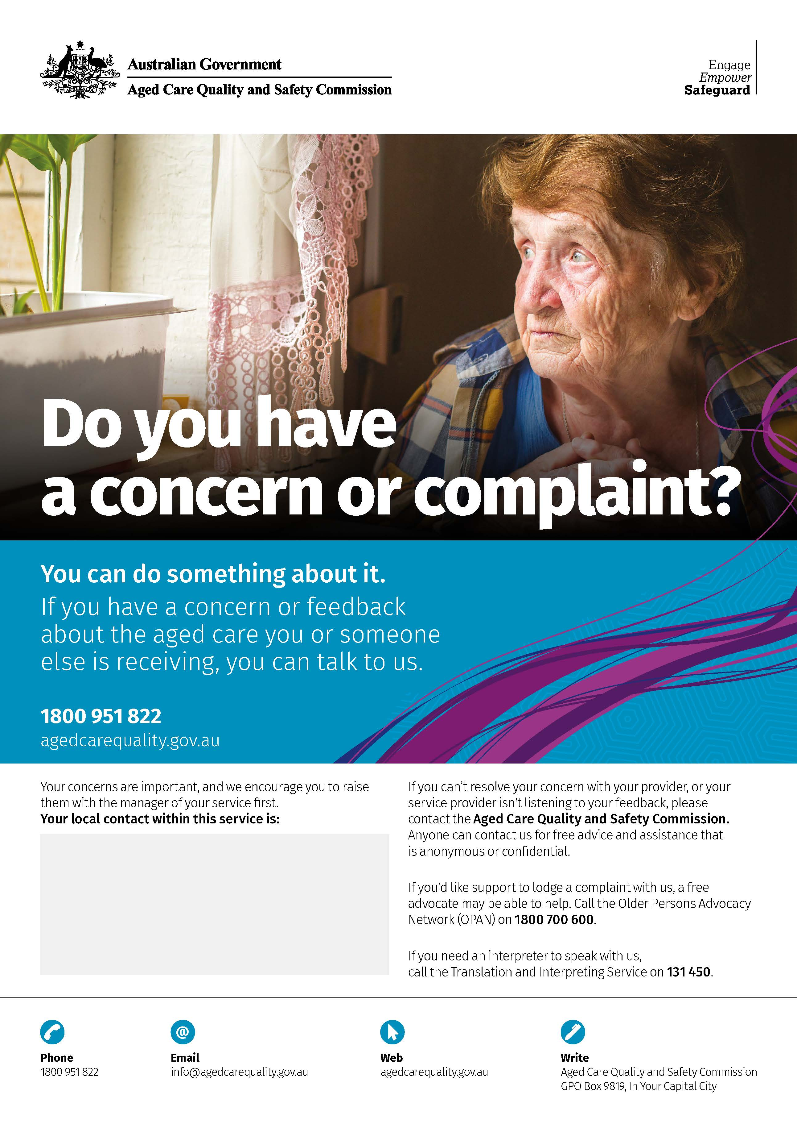 Cover image Do you have a concern? Poster