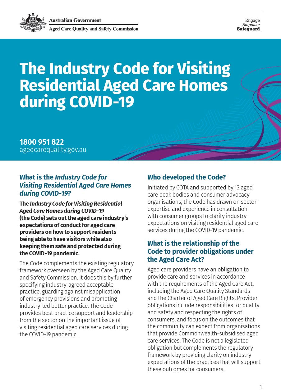 Industry code fact sheet