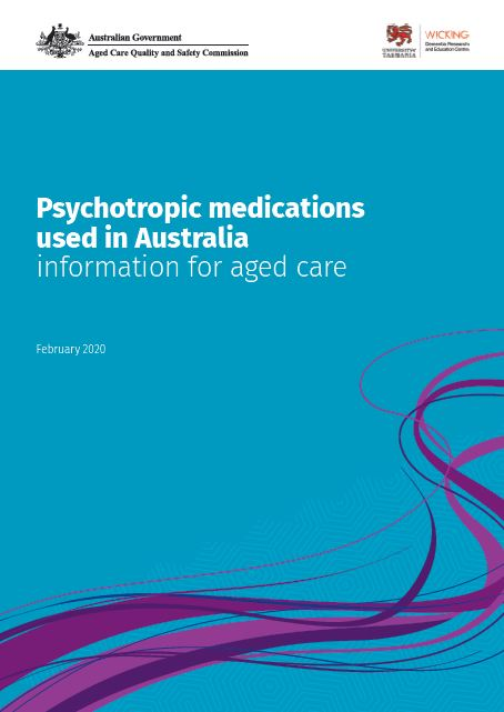 Cover image of Psychotropic medications used in Australia information for aged care