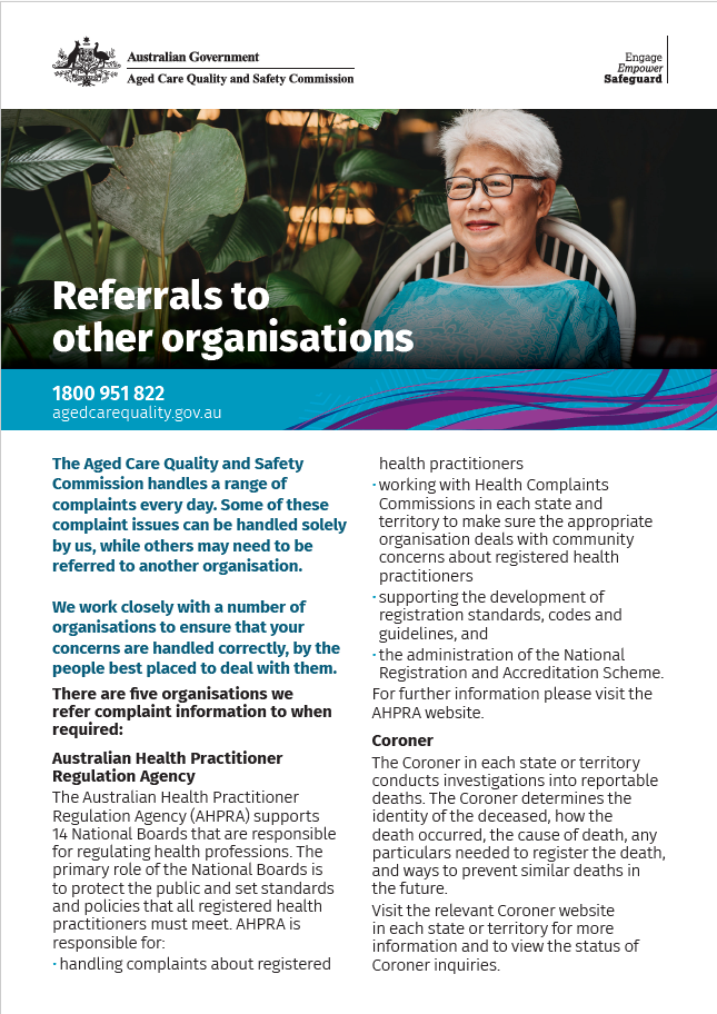 Referrals to other organisations fact sheet