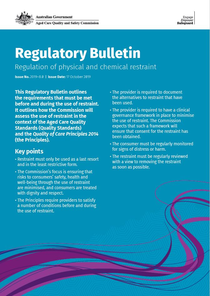 snapshot of the Regulatory Bulletin - restraint