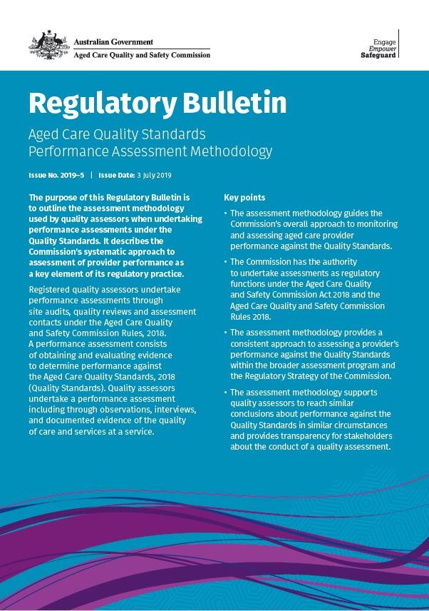 Cover image of the Commission's regulatory bulletin issue 2019-5