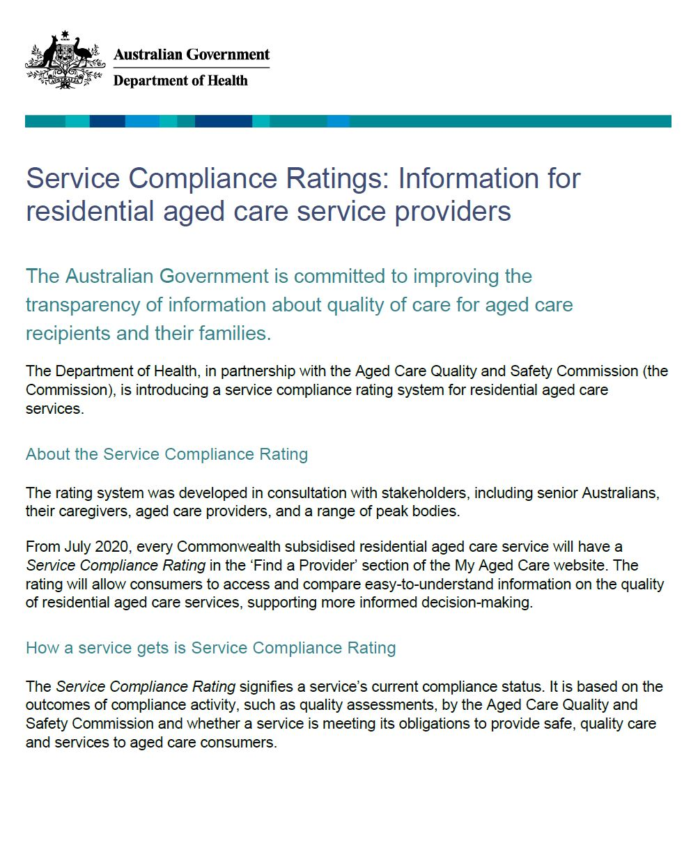 Service Compliance Ratings Fact Sheet image